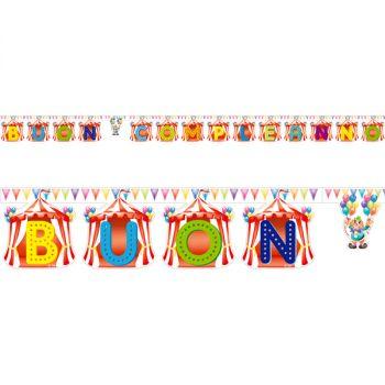 Festone buon compleanno circo 3.10 mt