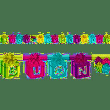 Festone buon compleanno tema Pacchi Regalo 2.80 mt