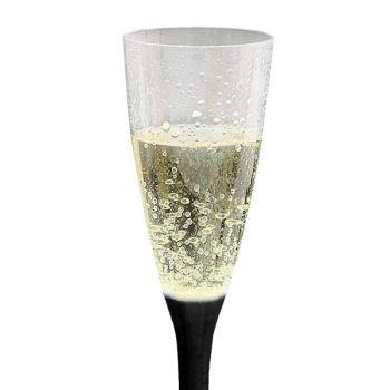 20 Flutes per lo champagne 100 cc in plastica trasparente