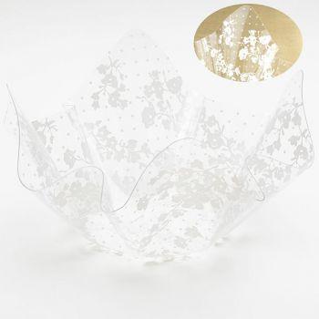 Contenitore pet decoro bianco 26 x 15.5 cm