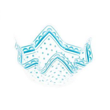 Contenitore pet decoro azzurro 22.5 x 12 cm