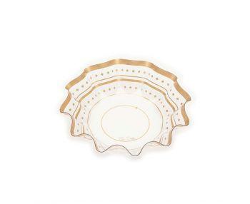 Contenitore pet decoro oro 28 x 7.2 cm