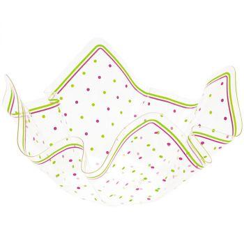 Contenitore pet malva/verde lime 26 x 26 x 15.5 cm