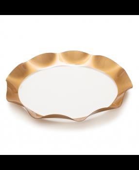 Contenitore pet decoro oro 32 x 4 cm