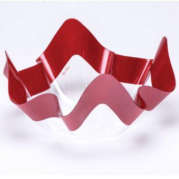 Contenitore pet decoro rosso perlato 22.5 x 12 cm
