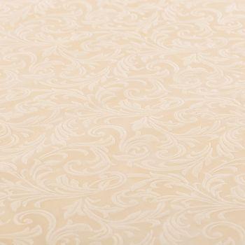 Tovaglia tessuto damascato floccato cm 140 x 240 avorio