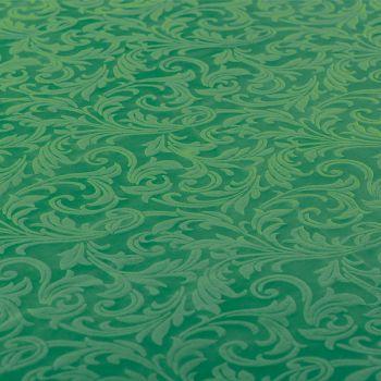 Tovaglia tessuto damascato floccato cm 140 x 240 verde