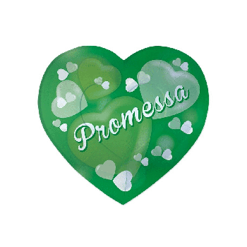 Piatti a forma cuore Promessa di Matrimonio 26 x 24 cm 6 pz