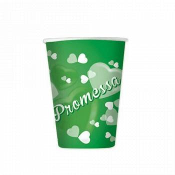 Bicchieri Promessa di Matrimonio in cartoncino 250 ml 8 pz