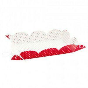 Vassoi Pois Rosso con laccetti 15 x 23 cm, 4 pz