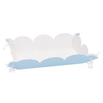 Vassoi Pois Azzurro con laccetti 15 x 23 cm, 4 pz