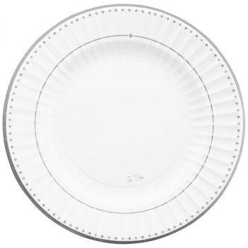 8 piatti Silver grace 27 cm