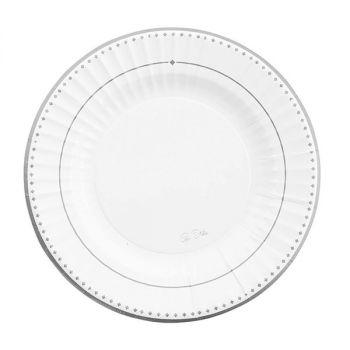8 piatti Silver grace 21 cm