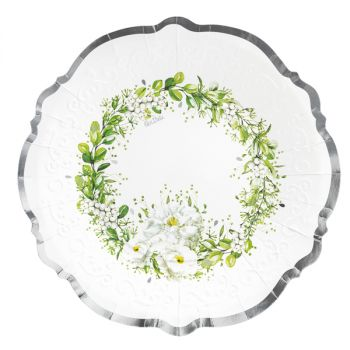 8 Piatti Wedding in green 27 cm