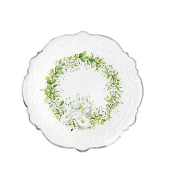 8 Piatti Wedding in green 21 cm
