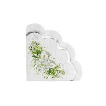 16 Tovaglioli Wedding in green 33 x 33 cm