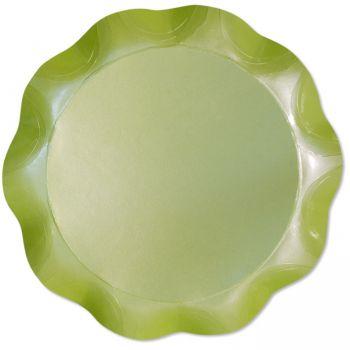 Vassoio tondo verde perlato 30 cm