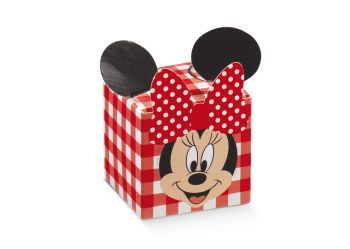 Scatola cubo Minnie's Party Rosso