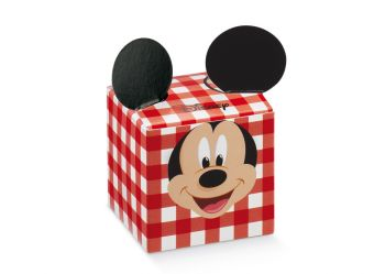 Scatola cubo Mickey Party Rosso