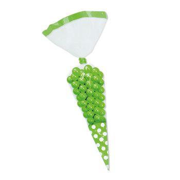 Sacchetti Cono a Pois Verde 10 pz