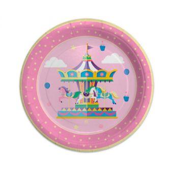Piatti Grandi Carousel Party 24 cm 8 pz