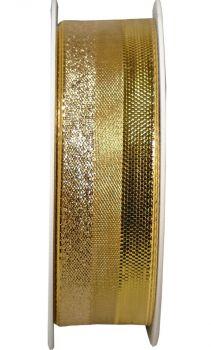 """Nastro da Vinci """" Luccicante con filo """" 25 mm oro"""