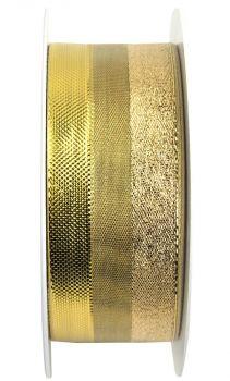 Nastro da Vinci Luccicante con filo 40 mm oro