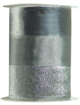 Nastro da Vinci Luccicante con filo 120 mm argento