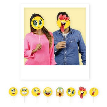 Photo Booth Emoticons altezza 20 cm