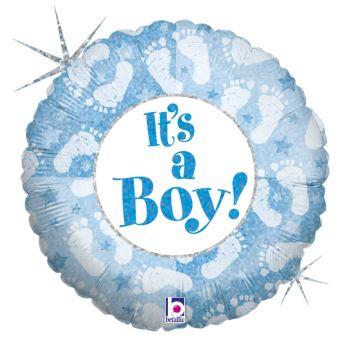 Palloncino olografico rotondo 46 cm it' s a boy