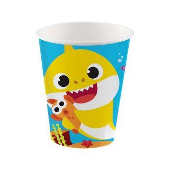 Bicchieri Baby Shark 266 ml - 8 pz