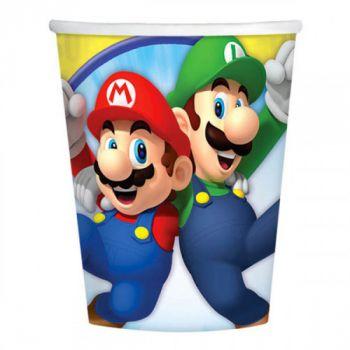 Super Mario Bros 8 bicchieri 250 ml