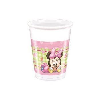 Bicchieri baby MInnie in plastica 200 ml 8 pz