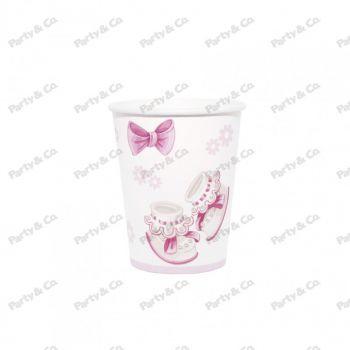 Bicchieri  in cartoncino Baby Rosa 200 cc 8 pezzi