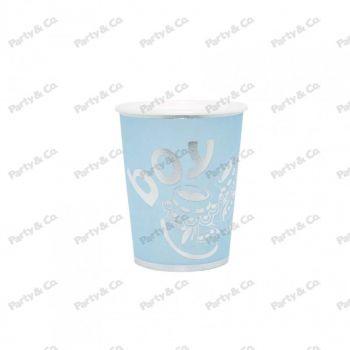 Bicchieri in cartoncino Boy Silver 200 cc 8 pezzi