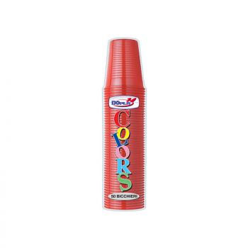 Bicchieri colors colore Rosso confezione da 100 pezzi