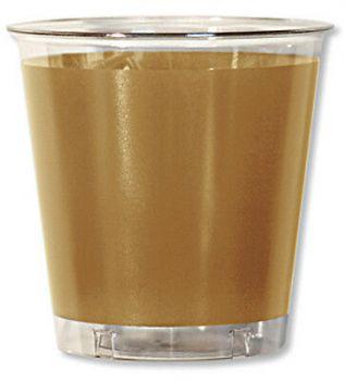 10 Bicchieri in plastica Kristal in tinta unita Oro Satinato 300 cc