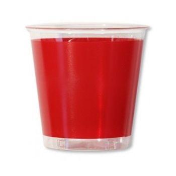 10 Bicchieri in plastica Kristal in tinta unita Rossi 300 cc