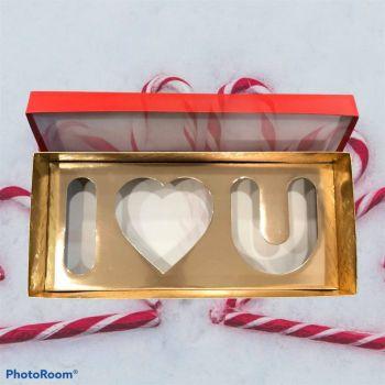 """Box con scritta """" I Love U """""""