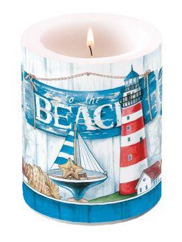 Candela Portalampada Decorativa Big to the Beach 12 cm altezza