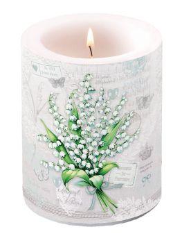 Candela Portalampada decorativa Tema Lily Of The Walley altezza 12 cm