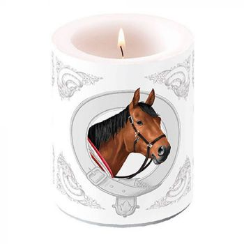 Candela decorativa big Classic horse 12 cm