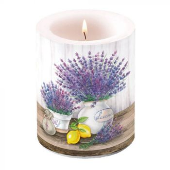 Candela decorativa big Lavender 12 cm