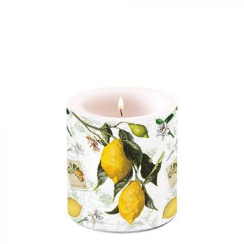 Candela decorativa small Lemon 8 cm