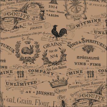 Carta antigrasso vintage avana quadrata
