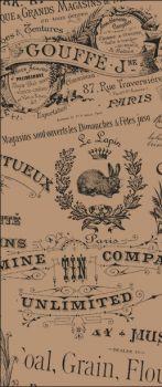 "Carta antigrasso ""vintage"" avana per fritti 15 x 40 500 pz"