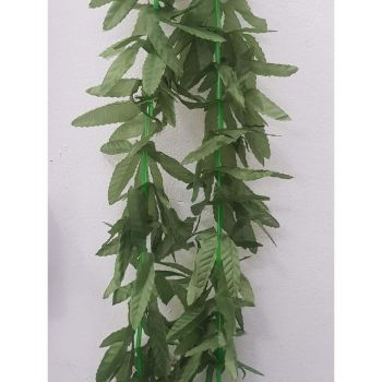 Collana foglie verdi hawaiana 130 cm
