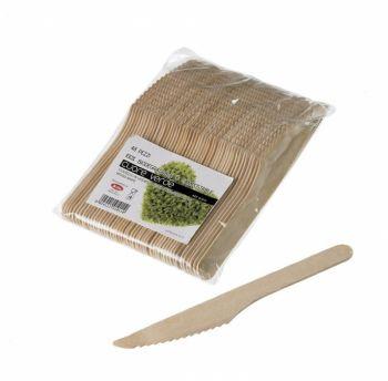 Coltelli in legno di betulla naturale 16 cm 48 pezzi