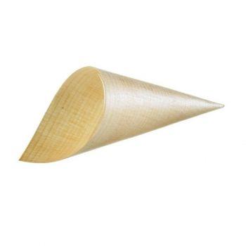 Cono in legno ø 4.5 x 12.5 cm 50 pezzi