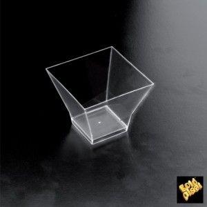 Coppetta in plastica pagoda trasparente 65 cc 25 pezzi